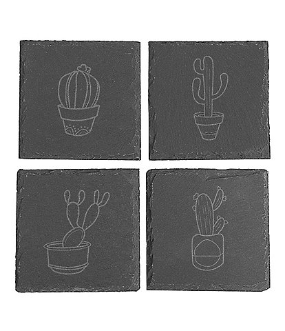 Cathy's Concepts Cactus Slate Coasters, Set of 4
