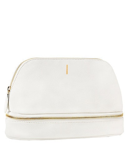 Cathy's Concepts Embossed White Vegan Leather Travel Case