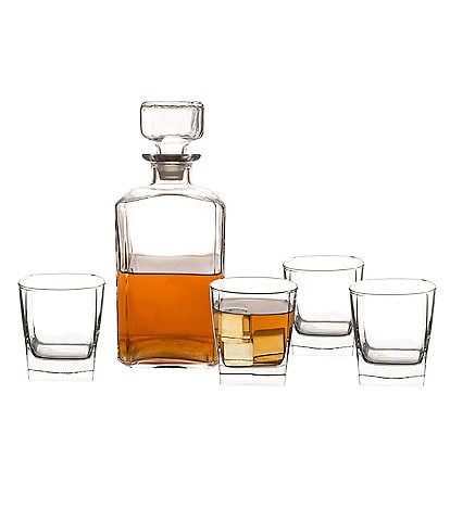 Cathy's Concepts Initial 6-Piece Whiskey Decanter & Lowball Glass Set