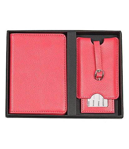 Cathy's Concepts Initial Passport Case & Luggage Tag Set