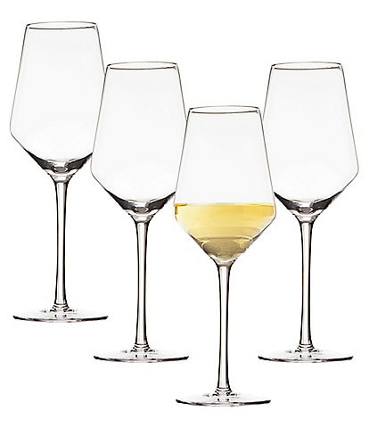 Cathy's Concepts Initial White Wine Estate Glass, Set of 4