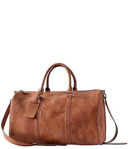 Cathy's Concepts Men's Vegan Leather Transport Duffel