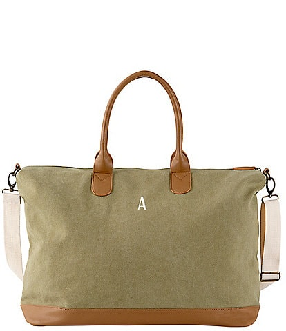 Cathy's Concepts Personalized Light Green Canvas Weekender