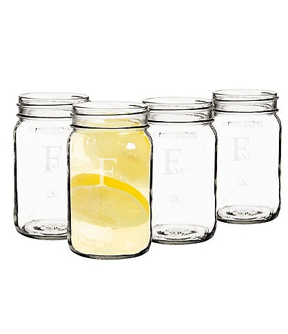 Cathy's Concepts Personalized 16 oz. Mason Jars Set of 4
