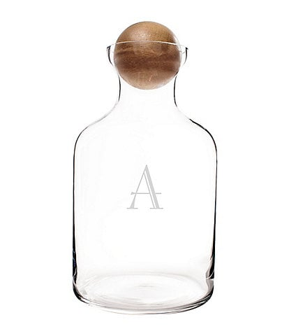 Cathy's Concepts Personalized 56 oz. Glass Decanter with Wood Stopper