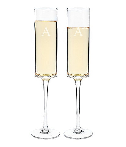 Cathy's Concepts Personalized 8-oz. Contemporary Champagne Flute, Set of 2