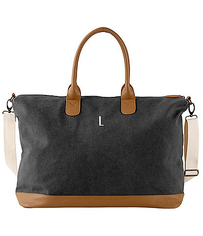 Cathy's Concepts Initial Black Canvas Weekender