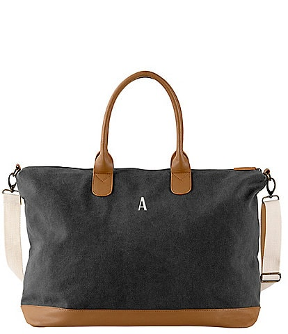 Cathy's Concepts Personalized Black Canvas Weekender