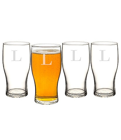 Cathy's Concepts Initial Craft Beer Pilsner Glasses
