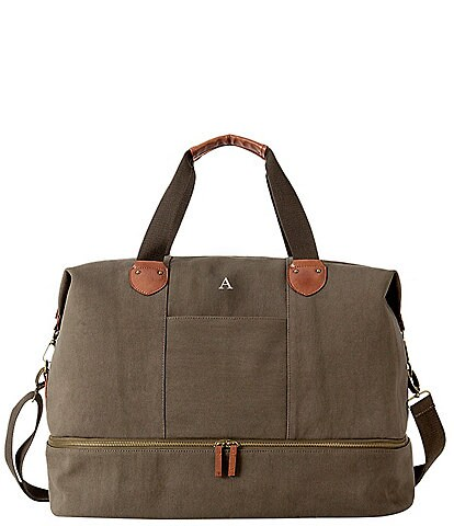 Cathy's Concepts Personalized Dark Green Canvas Transport Weekender