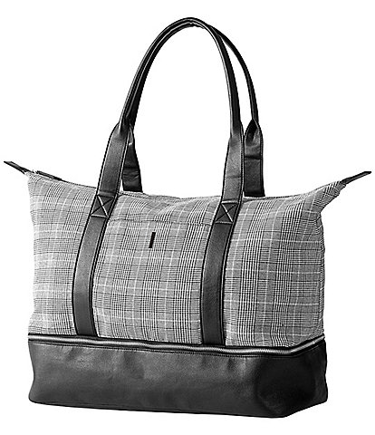 Cathy's Concepts Personalized Glen Plaid Luggage Tote Bag