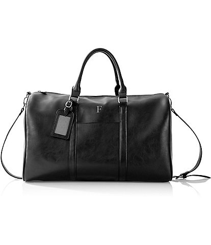 Cathy's Concepts Personalized Initial Vegan Leather Transport Duffel