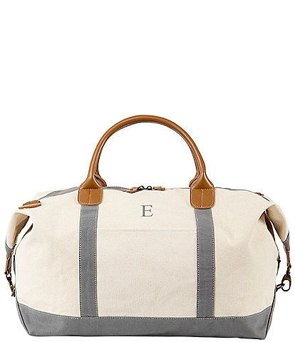 Cathy's Concepts Personalized Oversized Canvas Transport Weekender