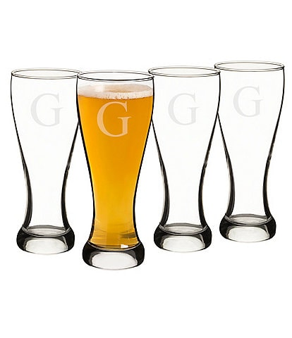 Cathy's Concepts Initial Pilsner Glass Set