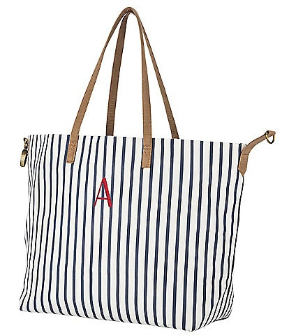 Cathy's Concepts Personalized Striped Overnight Tote Bag