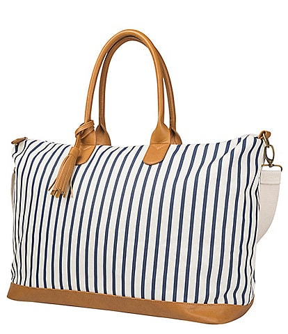 Cathy's Concepts Personalized Striped Weekender Tote