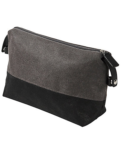 Cathy's Concepts Personalized Initial Two Tone Grey Dopp Kit