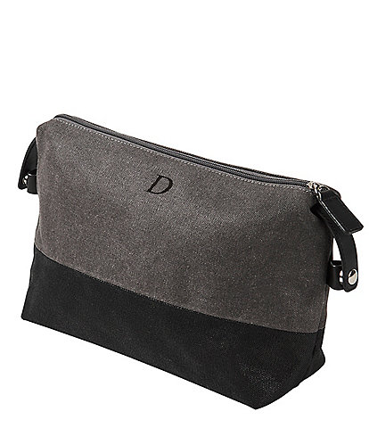 Cathy's Concepts Personalized Two Tone Grey Dopp Kit