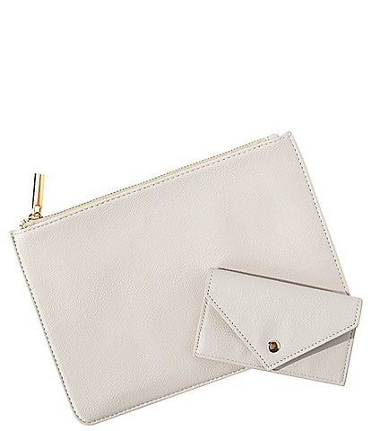 Cathy's Concepts Vegan Leather Clutch and Wallet Set