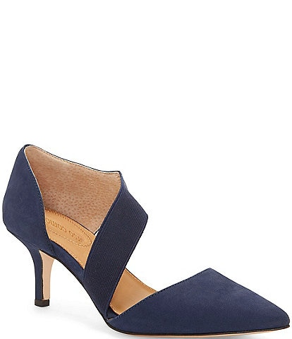 CC Corso Como Denice Suede Asymmetrical Leather Pumps