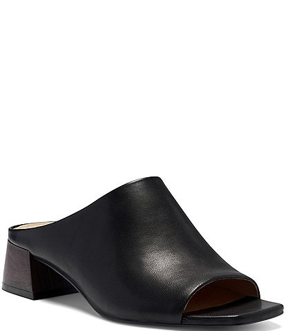 CC Corso Como Jacenia Leather Block Heel Mules