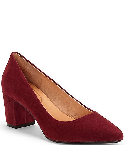 CC Corso Como Ryanna Water-Repellent Suede Block Heel Pumps