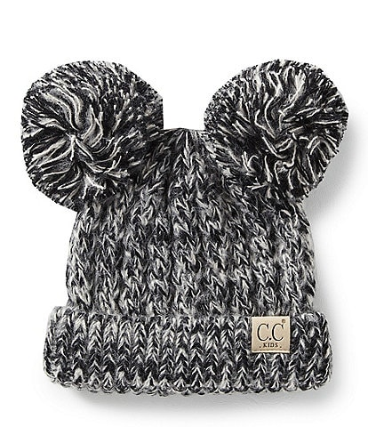 CC Girl Double Pom Beanie Hat