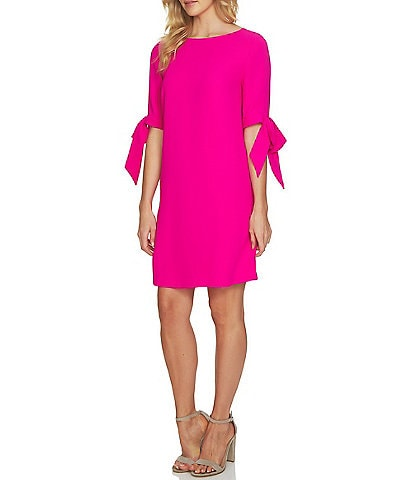 CeCe Bow Tie Sleeve Shift Dress