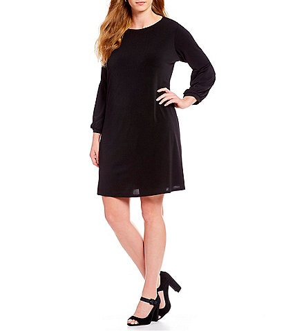 CeCe Plus Size Balloon Sleeve Knit Dress