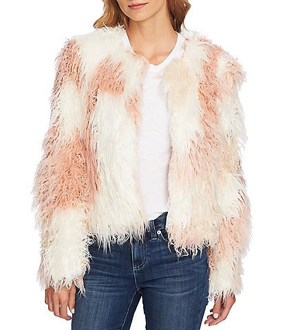CeCe Shaggy Patchwork Jacket