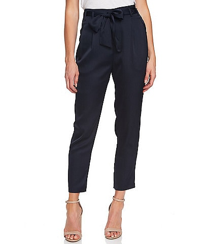 CeCe Tie-Belted Straight Leg Pant