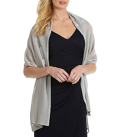 Cejon Shimmer Knit Evening Wrap