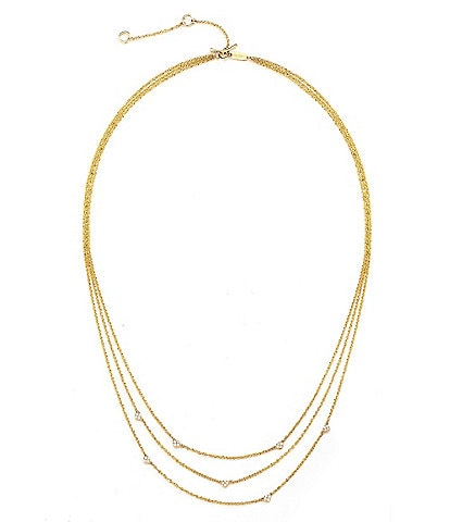 Celara 14K Gold & Diamond Eclipse Layer Necklace