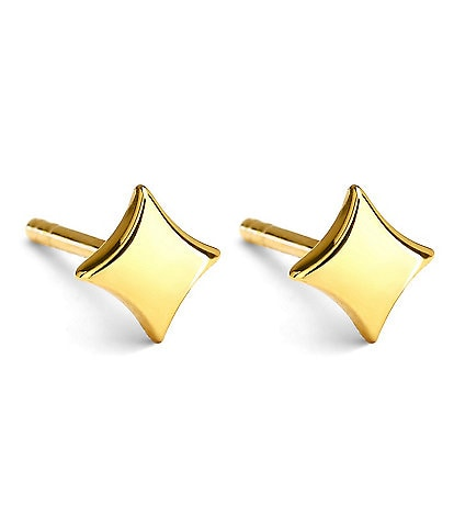 Celara Aurora 14K Gold Star Stud Earrings