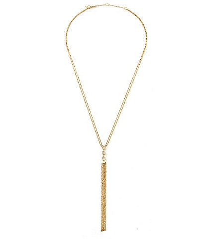 Celara Phase 14K Gold & Diamond Fringe Y-Necklace