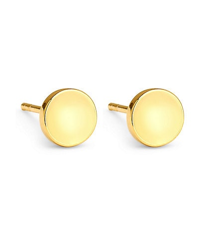 Celara Phase 14K Gold Solid Round Stud Earrings