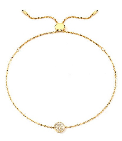 Celara Phase Full Moon 14K Gold & Diamond Bolo Bracelet