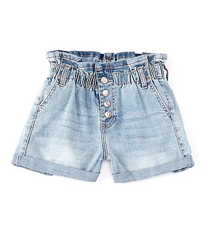 Celebrity Pink Big Girls 7-16 Paper-Bag Waist Denim Shorts