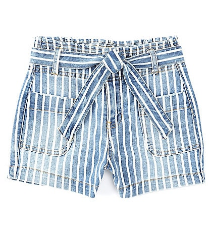 Celebrity Pink Big Girls 7-16 Striped Tie-Waist Shorts