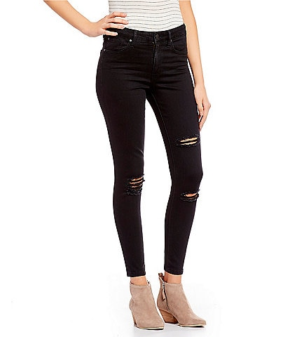 Celebrity Pink Destructed Curvy Fit High Rise Skinny Jeans