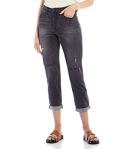 Celebrity Pink High Rise Destructed Rolled Cuff Mom Jeans