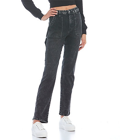 Celebrity Pink High Rise Utility Straight Jeans