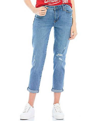 Celebrity Pink Mid-Rise Rolled Cuff Girlfriend Jeans