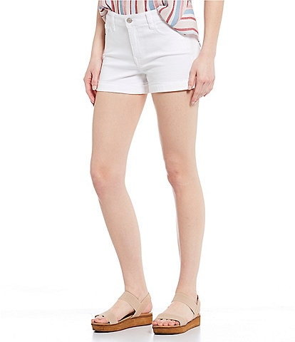 Celebrity Pink Mid Rise Rolled Cuff Shorts