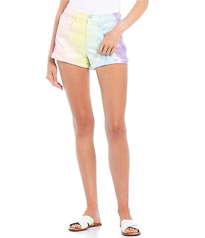 Celebrity Pink Tie-Dye Rolled Cuff Shorts