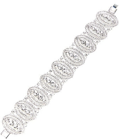 Cezanne Crystal Eyes Line Bracelet