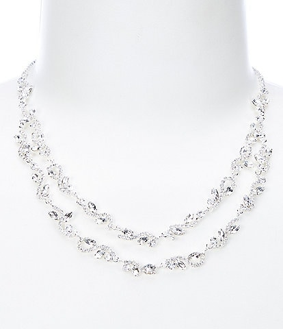 Cezanne Crystal Ivy Row Necklace