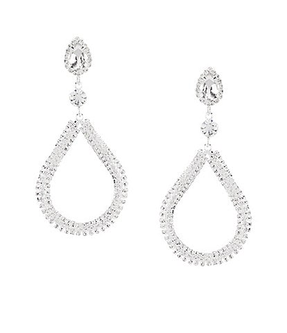 Cezanne Crystal Loop Earrings