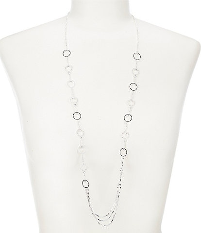 Cezanne Crystal Rings Long Necklace