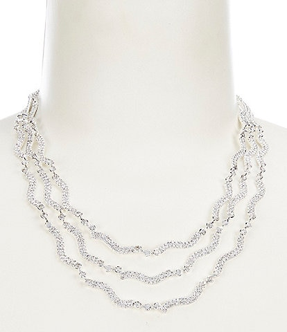 Cezanne Crystal Waves Statement Necklace
